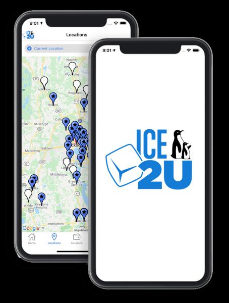 Ice2U app screens