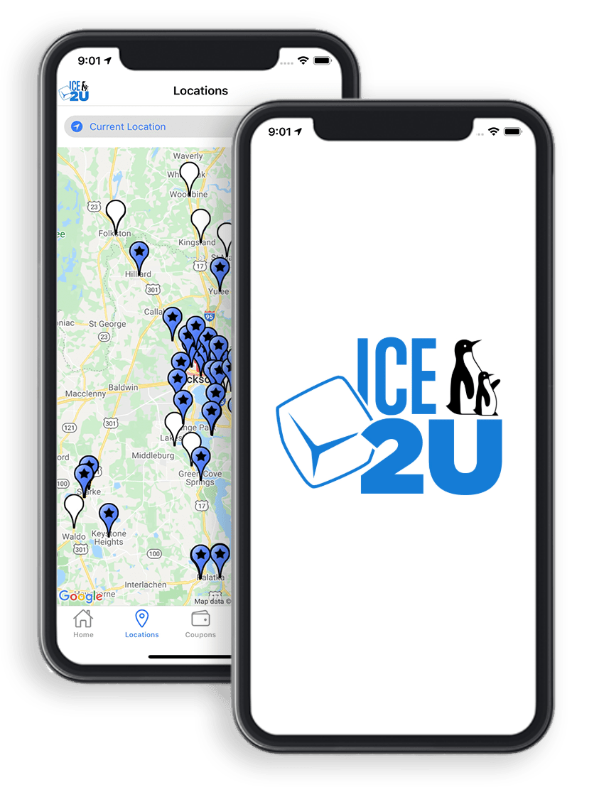 Ice2U app screens